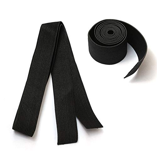 ZigZag Hair Wig Accessories 2.5cm Black Elastic Band for Wig/Lace Frontal/Lace Closure Making 10pcs