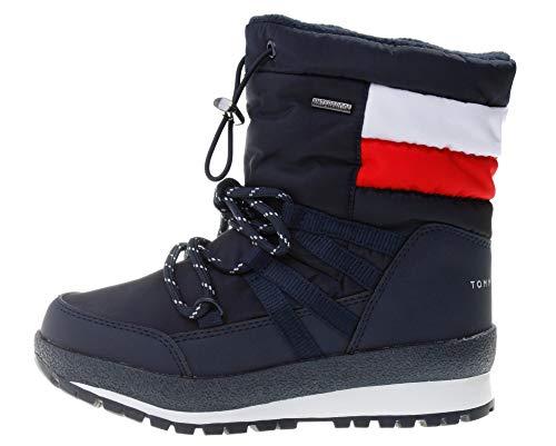 Tommy Hilfiger Jungen Winter-Stiefel - Technical Boots blau, Farbe:Blau, Größe:EUR 31