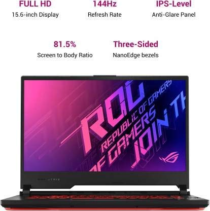 Asus ROG Strix G15 G512LI-HN274TS i7-10870H/ GTX1650Ti-4GB/ 8G/ 1T SSD/ 15.6 FHD-144hz/ RGB Backlit/ NumberPad/ WIFI6/ 48Wh/ WIN10/ MSO H&S 2019/ Black Plastic/