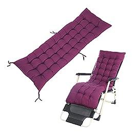 Drunk breeze CHANGshui Coussin Long Solide Mat Fit pour Recliner Rocking Chair rotin Pliant épais Jardin Sun Lounge…