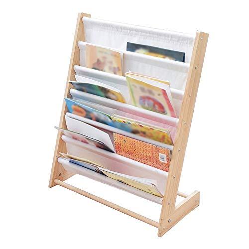LHQ-HQ Librerie Fumetto Giocattolo Bagagli Rack Compatible with i Bambini Libreria Kindergarten Mappa Bookshelf Bambini Casa Semplice Picture Book Grande libreria (Colore: Naturale, Size: 62. 5 * 30*