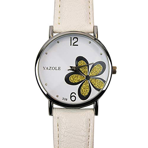 Sanwood Women Wristwatches, Chic Glitter Flower Round Dial Analog Faux...