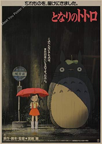 Póster De Película De Animación Cómica De Hayao Miyazaki, Pintura En Lienzo, Póster Artístico De Pared, Imágenes, Decoración De La Habitación De Los Niños, 40X50Cm Sg-2413