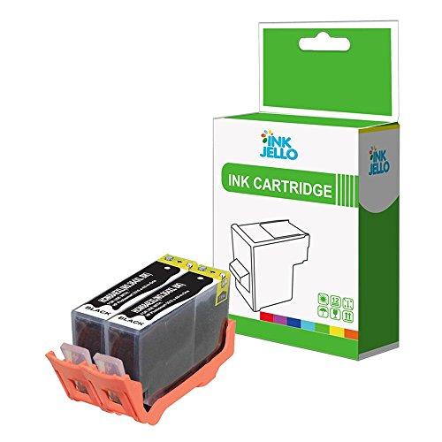 InkJello - Cartucho de tinta de repuesto para HP Officejet 4610 All-in-One 4620 e-All-in-One 4622 e-All-in-One, 364XL (2 unidades), color negro