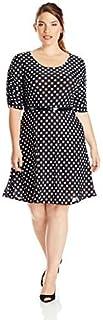 فستان Star Vixen للنساء بمقاس كبير وحزام للخصر
