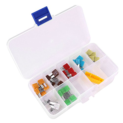 ACBungji Auto Car Micro II 2 Blade Fuse 5A 7.5A 10A 15A 20A 25A 30A Assortment ATO ATC 35 Pieces for SUV Truck RV