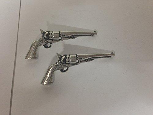 G17 Antique Revolver boutons de manchette Boutons de manchette étain anglais est livré avec un emballage prideindetails fabriqué en Sheffield