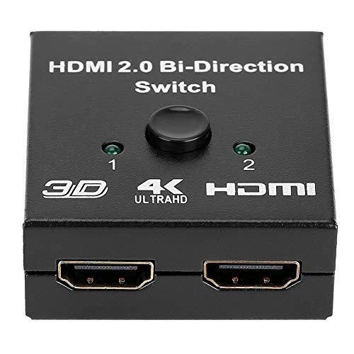HDMI-Splitter, praktischer Zwei-Wege-HDMI-Umschalter, Projektoren für Spielekonsolen mit feiner Verarbeitung für PCs und Laptops