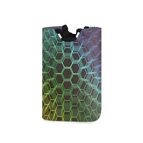 UMIRIKO Cesto de lavandería plegable de color panal de abeja para ropa sucia, papelera de lavandería, bolsa de dormitorio para cuarto de baño, dormitorio, 50 l, 2020262