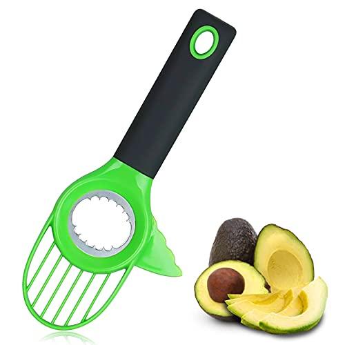 Cortador de Aguacate, Cuchillo de Aguacate 3 en 1, Pelador de Aguacate Adecuado para Kiwi, Fruta Del Dragón, Mango