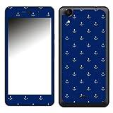 Disagu SF-106581_1039 Design Folie für Wiko Rainbow Up - Motiv kleine Anker - dunkelblau