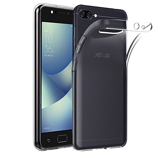 ebestStar - Asus Zenfone 4 Max Hülle ZC554KL (Pro, Plus) Handyhülle [Ultra Dünn], Premium Durchsichtige Klar TPU Schutzhülle, Soft Flex Silikon, Transparent [Phone: 154 x 76.9 x 8.9mm, 5.5'']
