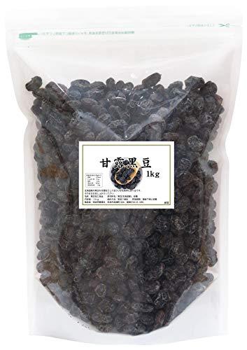 自然健康社 国産・甘露黒豆 1kg チャック付袋入り