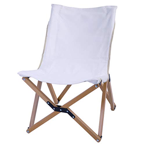 JIAODIE Camping Folding Chair, Step Foldable Portable Travel Camp Chair with Mesh Bag, for Fishing Beach BBQ Garden Lightwight Waterproof, Load Up 120Kg(Solid Wood),1 PCS