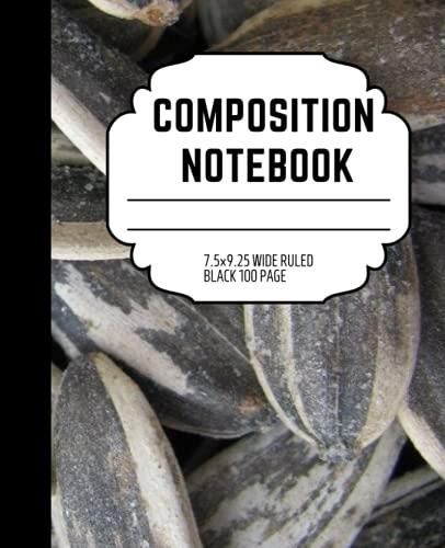 Composition notebook: sunflower seeds