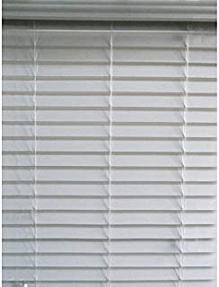 allen + roth 2.5 in Cordless White Faux Wood Blinds