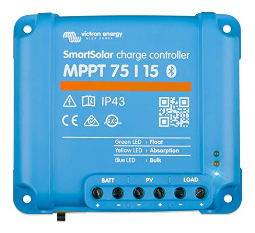 Victron SmartSolar Charge Controller with Built-in Bluetooth – MPPT 75/15 – 75...