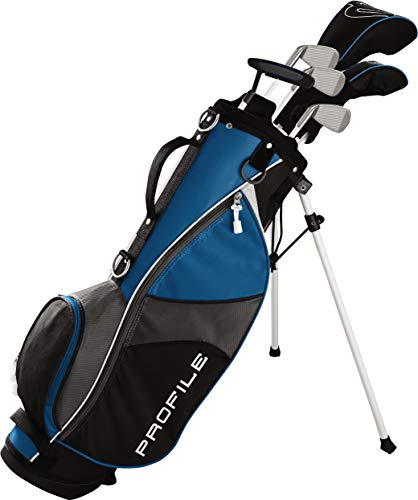 Wilson Golf Profile JGI Junior Complete Golf Set — Large, Blue, Left Hand