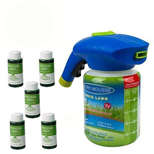 LSGD Pulvérisateur de semences, Engrais Liquide pour pelouse Système de semis de Domestique Pulvérisateur de semences d'herbe avec Solution nutritive Outils de Jardin, pour l'entretien pelouses (5)
