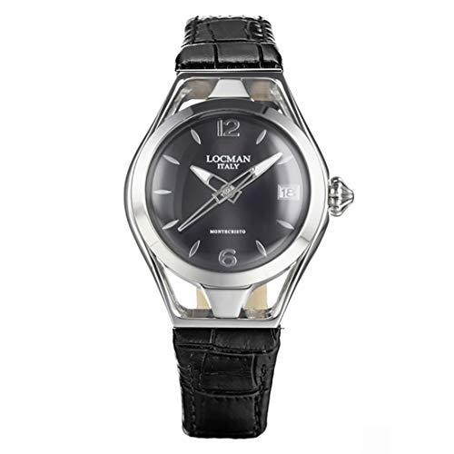 Locman Italy Montecristo Lady - Reloj de pulsera para mujer, color negro 0526