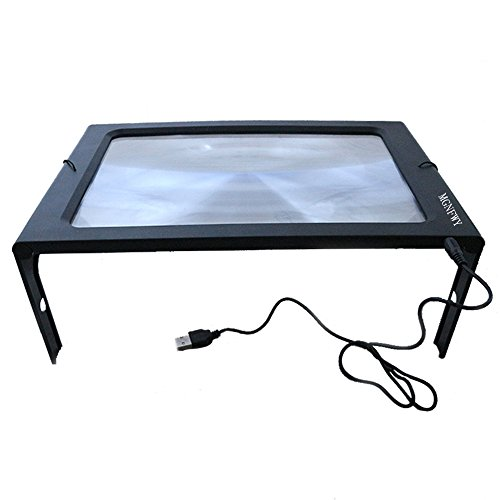 3X Hands-Free Full Page USB Reading Magnifier with 12LED Light