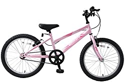"""HI-Tensile triangular steel frame - Hi-Tensile steel forks - Front & rear V-Type brakes Single Speed Simplicity - Double Chainguard - Colour: Barbie Pink Tyre Size: 20"""" x 2.125"""" - Wheel Size: 20"""" - Frame Size: 11"""" Weight: 11.39kgs - RRP £169.99 This ..."""