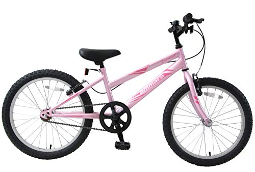 Ammaco. Diamond 20' Wheel Girls Kids Mountain Bike Single Speed 11' Triangular Frame Barbie Pink Age 7+