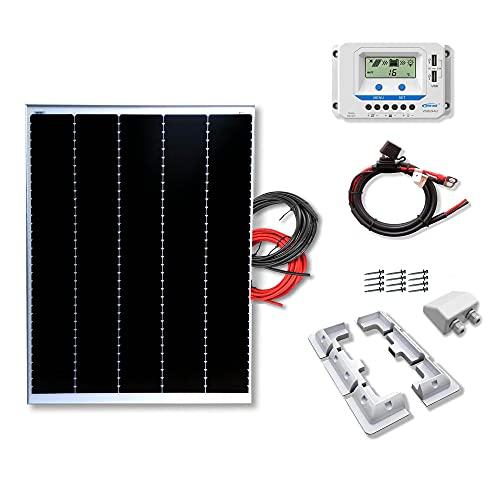 Kit 200W CAMPER 12V panel solar placa monocristalina Tecnología Shingled cells de alta eficiencia para caravanas autocaravanas camper