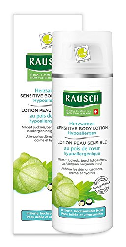 Rausch Herzsamen Sensitive Body Lotion Hypoallergen (für sehr trockene sowie zu Allergien und Neurodermitis neigende Haut- Vegan), 1er Pack (1 x 150 ml)