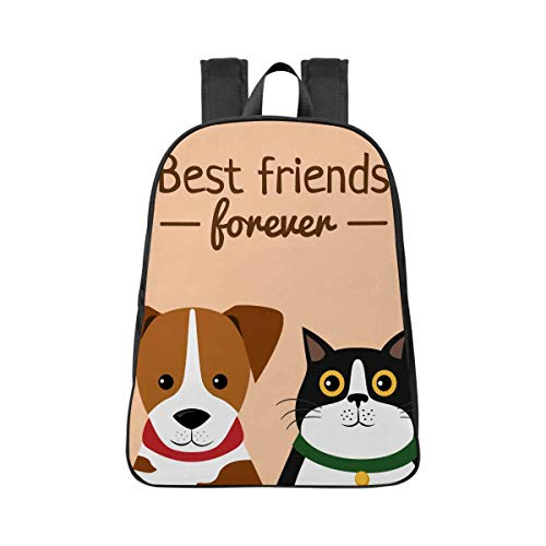 InterestPrint Best Friends College Students or Business Professionals Compact Bookbag Backpack