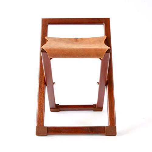 Find Discount GDXLJ Folding Luggage Rack Hotel Luggage Rack, Solid Wood Cowhide Mazar, Multifunction...