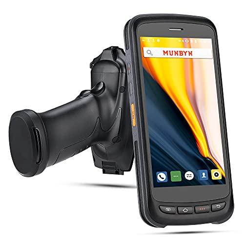 Terminale PDA e Terminale Android MUNBYN Terminale POS wireless PDA Scanner di Android 6.0 portatile con 2D Zebra Scanner di codici a barre Pistola Grip Scanner per consegna Magazzino Spedizione WMS