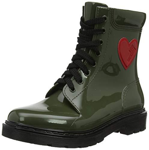 Love Moschino Damen St.ttod.Gomma 30 Mm, PVC Combat Boots, Grün (Militare 852), 41 EU