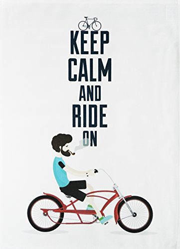 Half a Donkey Keep Calm and Ride On - Large Cotton Tea Towel
