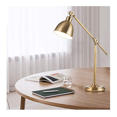 Lampe de bureau Office Eye Caring Study Lire Lampes de table pour adultes LED Designs simples Style américain en laiton