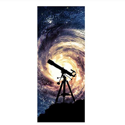 Telescopio Imagen Murales de pared Pegatinas de pared Pegatina de puerta Foto Papel pintado Calcomanías Decoración del hogar-77x200cm