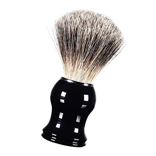 dailymall Blaireau de Rasage, Brosse à Cheveux Accessoires Facial Outils pour Hommes - Noir #2
