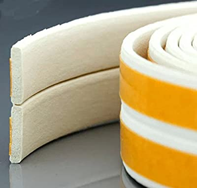 Loobani Self-Adhesive EPDM Doors and Windows Draught Excluder Foam Seal Strip Soundproofing Collision Avoidance Rubber Weatherstrip