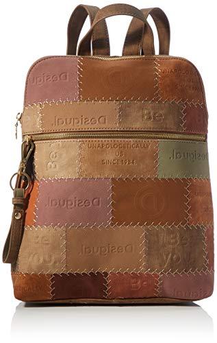 Desigual Accessories PU Backpack Medium, Zaino Donna, Marrone, U