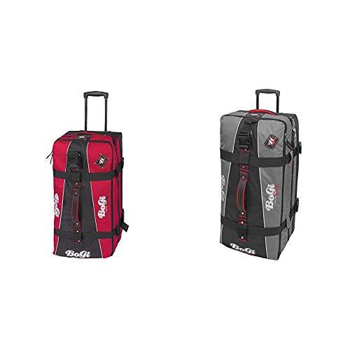 BoGi Bag Unisex– Erwachsene Reistrolley 110 Liter-Rot/Schwarz Reisetasche, 85 cm & Bag Reisetrolley 110 Liter Reisetasche - Grau/Schwarz