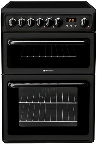 Hotpoint HAE60KS Freestanding Cooker Double Oven Electric Black