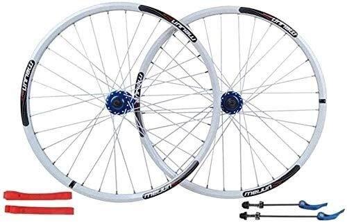 Ruedas De Bicicleta,llantas bicicleta Bicicletas de ruedas de 26 pulgadas, establece las ruedas de bicicleta de aleación de aluminio de freno de disco de la rueda de doble pared bicicleta de montaña d