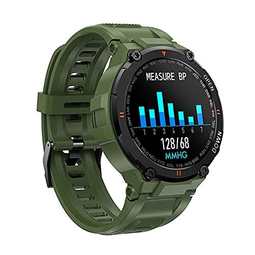 Relojes inteligentes para hombres, podómetro a prueba de agua IP67, reloj inteligente con pantalla táctil completa de 1.28 pulgadas, reloj con monitor de sueño, reloj inteligente para teléfonos Andr
