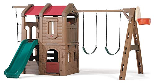 Step2 Naturally Playful Adventure Lodge Swing Set and Play Center