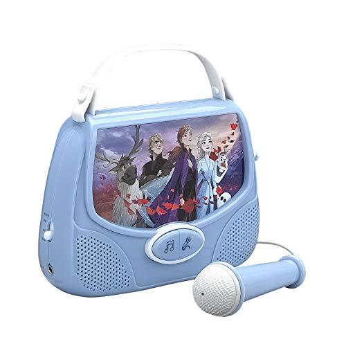 Bevroren II Mini Boombox Karaoke met echte werkende Microfoon Singalong
