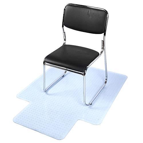 Bodenschutzmatte Bürostuhl Parkettboden Büro Transparent PVC Sicherheit Geruchlos Stuhlmatte Rutschfeste Stuhlauflage Rutschfest Hartstuhlmatte Stuhlmatte Bodenunterlage für Hartböden Laminat Parkett