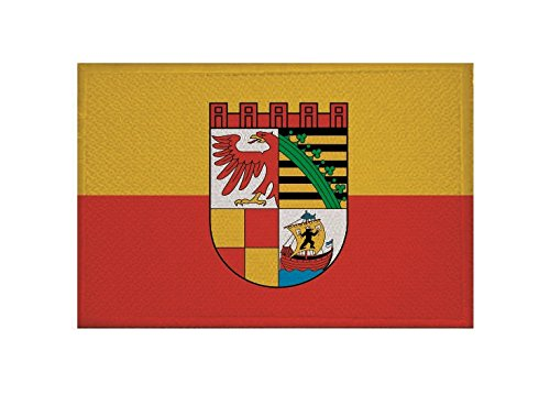 U24 Aufnäher Dessau-Roßlau Fahne Flagge Aufbügler Patch 9 x 6 cm