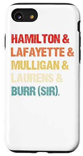 iPhone SE (2020) / 7 / 8 Retro Hamilton, Laurens, Lafayette, Mulligan, Burr, Sir Case
