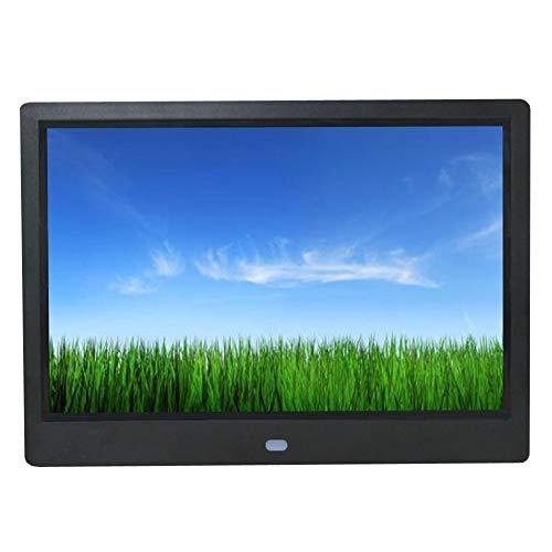 Digitale fotolijst Full HD (1280 x 800) 10 inch elektronische fotolijst full IP-display foto/muziek/video/agenda/wekker, ondersteunt USB/SD-kaart, infrarood afstandsbediening zwart