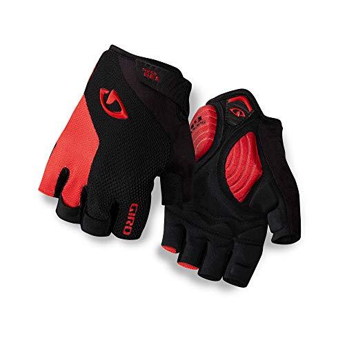 Giro Unisex - Guantes de Ciclismo Strade Dure Supergel, Unisex - Adultos, Color Black/Bright Red, tamaño Small